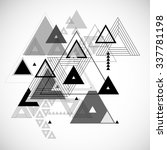 abstract triangle geometrical... | Shutterstock .eps vector #337781198