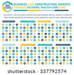 240 big icon set  business  seo ... | Shutterstock .eps vector #337792574