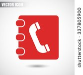 contacts book icon. vector eps... | Shutterstock .eps vector #337805900