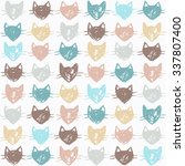 cute seamless pattern with... | Shutterstock .eps vector #337807400