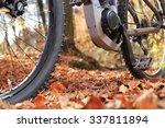 A Closeup Of E Mountain Bike...