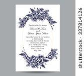 romantic invitation. wedding ... | Shutterstock . vector #337814126