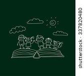 vector illustration of happy... | Shutterstock .eps vector #337820480