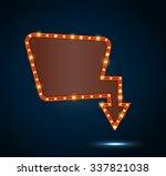 shining retro light banner on... | Shutterstock .eps vector #337821038