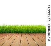 3d rendered wooden footpath... | Shutterstock . vector #337822763