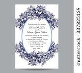 romantic invitation. wedding ... | Shutterstock . vector #337825139