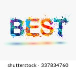 word best. rainbow splash paint ... | Shutterstock .eps vector #337834760