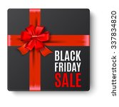 black gift box top view with... | Shutterstock .eps vector #337834820