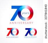 70 years old celebrating... | Shutterstock .eps vector #337841840