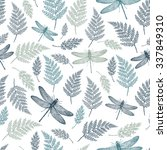 Dragonfly Seamless Pattern....