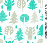 forest tree seamless background.... | Shutterstock .eps vector #337854578