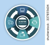 business infographics circle...