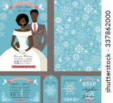 wedding template set.winter... | Shutterstock .eps vector #337862000