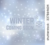 winter coming soon. background... | Shutterstock .eps vector #337864604