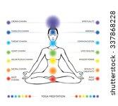 meditation   asana padmasana... | Shutterstock .eps vector #337868228