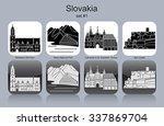 landmarks of slovakia. set of...   Shutterstock .eps vector #337869704