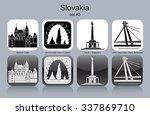 landmarks of slovakia. set of... | Shutterstock .eps vector #337869710
