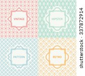 set of mono line geometric... | Shutterstock .eps vector #337872914