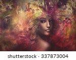 fantasy colorful beautiful... | Shutterstock . vector #337873004