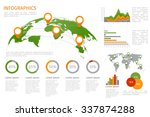 world map 3d with set of... | Shutterstock .eps vector #337874288