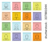 people icons in sticky note... | Shutterstock .eps vector #337881044