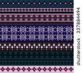 ethnic geometric print....   Shutterstock .eps vector #337884494