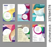 abstract colored brochure... | Shutterstock .eps vector #337884578