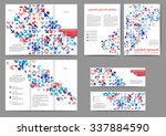 set of colored abstract... | Shutterstock .eps vector #337884590