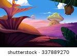 illustration  a fantastic land... | Shutterstock . vector #337889270