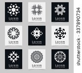 vector round ornaments... | Shutterstock .eps vector #337890734