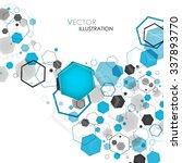abstract geometric blue hexagon ... | Shutterstock .eps vector #337893770