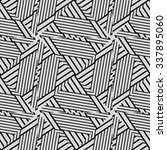 black and white vector seamless ... | Shutterstock .eps vector #337895060