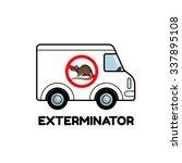 exterminator van icon logo... | Shutterstock .eps vector #337895108