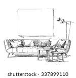 contemporary modern interior... | Shutterstock .eps vector #337899110