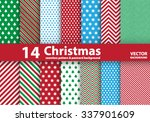 set of christmas patterns and... | Shutterstock .eps vector #337901609