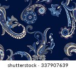 seamless paisley background.... | Shutterstock .eps vector #337907639
