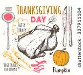 thanksgiving day. vector... | Shutterstock .eps vector #337911104