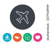 airplane sign. plane symbol....   Shutterstock .eps vector #337918949