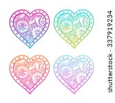set of multicolored mechanical... | Shutterstock .eps vector #337919234