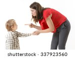 mother disciplining her child | Shutterstock . vector #337923560