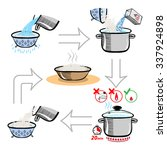 cooking infographics. step by... | Shutterstock . vector #337924898