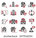 real estate icons set | Shutterstock .eps vector #337926554