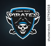 pirate skull and crossed sabers ... | Shutterstock .eps vector #337934318