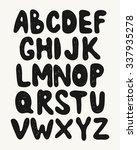 alphabet. hand drawn letters...   Shutterstock .eps vector #337935278