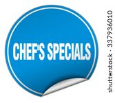 chef's specials round blue... | Shutterstock .eps vector #337936010