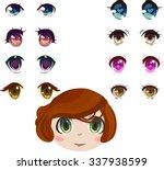 anime eyes set | Shutterstock .eps vector #337938599
