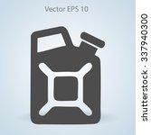flat jerrycan icon. vector | Shutterstock .eps vector #337940300