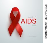 aids awareness red ribbon.... | Shutterstock .eps vector #337942868