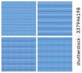set of blue seamless patterns... | Shutterstock .eps vector #337946198