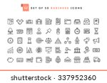 set of 50 business icons  thin... | Shutterstock .eps vector #337952360